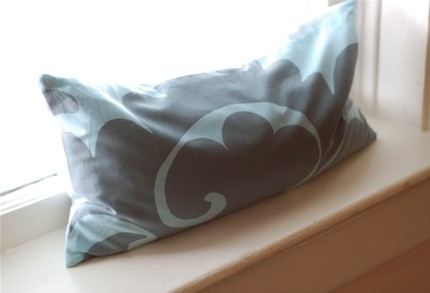 Mireio Spa Pillow -- Montana Sky -- Lavender and Buckwheat Hulls
