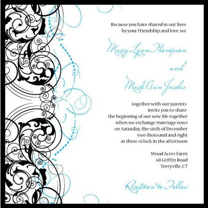 Heathercollins85-Macey 6x6 Layered Wedding Invitation